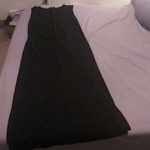 Long Gap dress w slits up both sides.